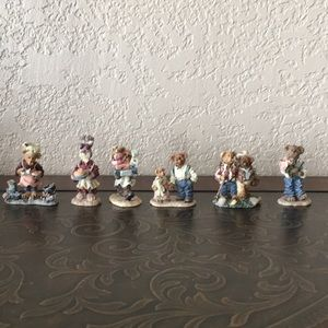 Boyds Bears Villagers - set of 6 figurines